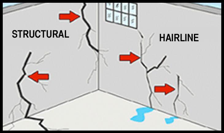 Hairline Crack Structural Crack Foundation Crack