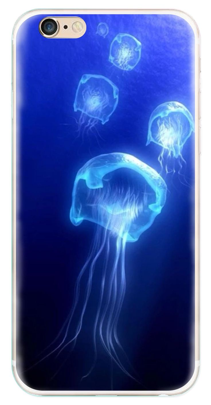 Whatskin DIY Style Colorful Jellyfish Series 07 Clear Back Cover for iphone 6