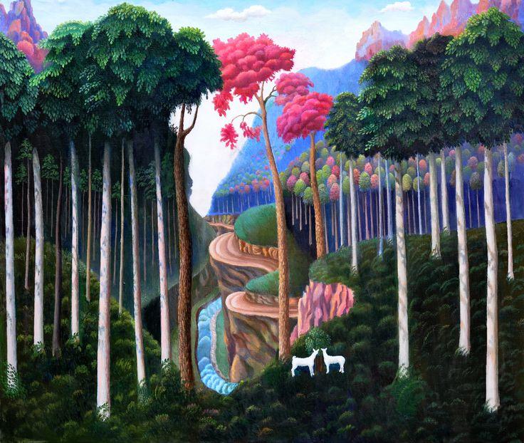 СКАЗОЧНЫЙ ЛЕС горы Дигории    САБАНОВ ХАДЖУМАР ТАЗЕЕВИЧ самобытный художник РСО-Алания