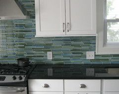 Rip Curl Linear Glass Mosaic Tile, Sample - contemporary - Mosaic Tile - Rocky Point Tile