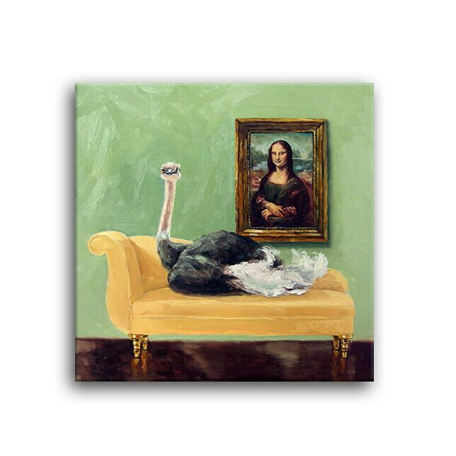 Daily Oil Painting Ostrich Feathers Mona Lisa Chaise Kimberly