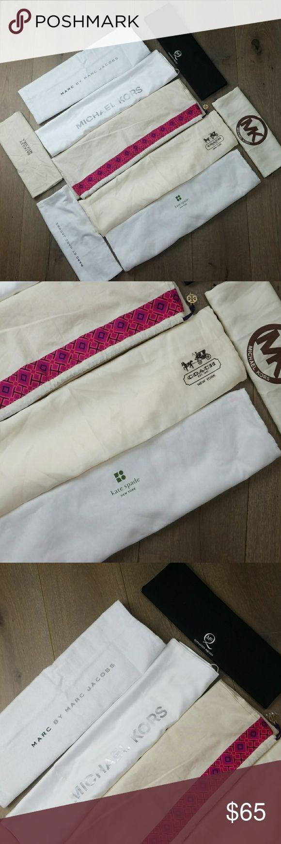 Bundle of 9 authentic dust bags brand names Brand names selling all as a bundle great deal. Michael Kors Bags