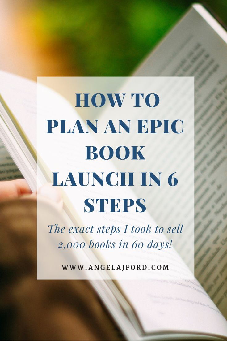 how to plan an epic book launch in 6 steps | book launch, learning