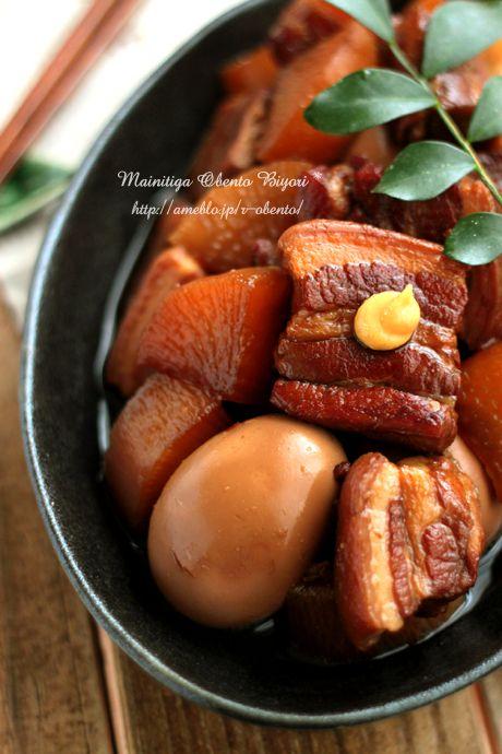 Hokkori kakuni of pork belly meat ☆ side dish - 豚バラ肉のほっこり角煮 ☆簡単な作り置き用のおかず☆
