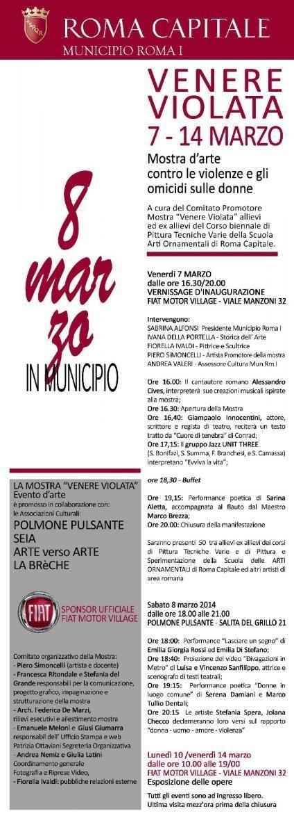 VENERE VIOLATA Mostra d'Arte contro le violenze e gli omicidi sulle donne @ EMILIADISTEFANO.COM