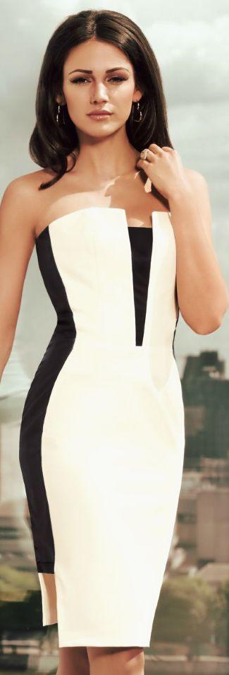 Michelle Keegan Bandeau Midi Dress