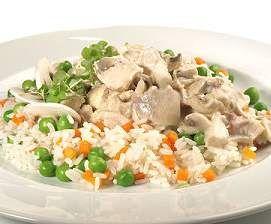 Rezept Hühnerfrikassee mit Gemüse und Reis (All-in-one) schnell & lecker von ChriPaFe - Rezept der Kategorie Hauptgerichte mit Fleisch