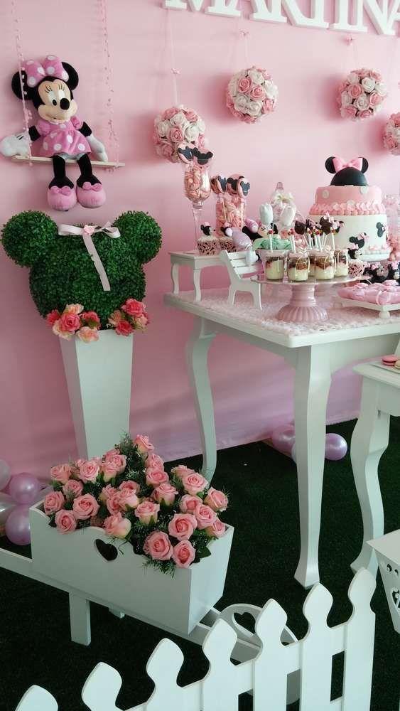 Decoracion Minnie Mouse Rosa ~   Minnie Mouse en Pinterest  Pastel de mickey mouse, Minnie mouse y