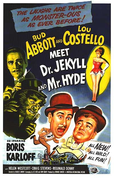 "Movie Abbott and Costello ""Meet Dr. Jeckyll and Mr. Hyde"" with great cast"
