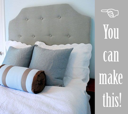 DIY headboard for the guest room