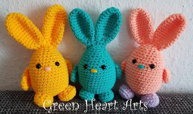 Leithygurumi: Paskalya Yumurta Tavşanı Türkçe Tarif / Happy Easter Day Egg Bunny English Pattern