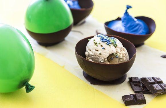 Hjemmelavede chokoladeskåle