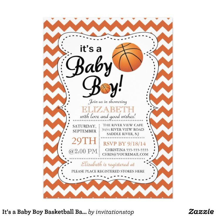 758 best baby shower invitations images on pinterest baby shower its a baby boy basketball baby shower invitation filmwisefo