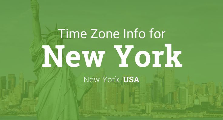 Daylight saving time dates for USA – New York – New York between 2015 and 2019