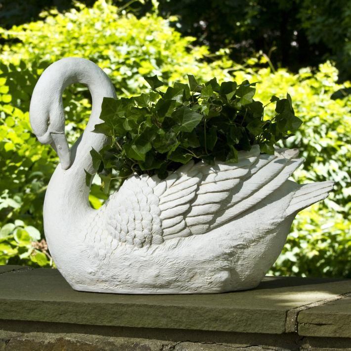 Xx Tracy Porter Poetic Wanderlust White Swan Planter Two S