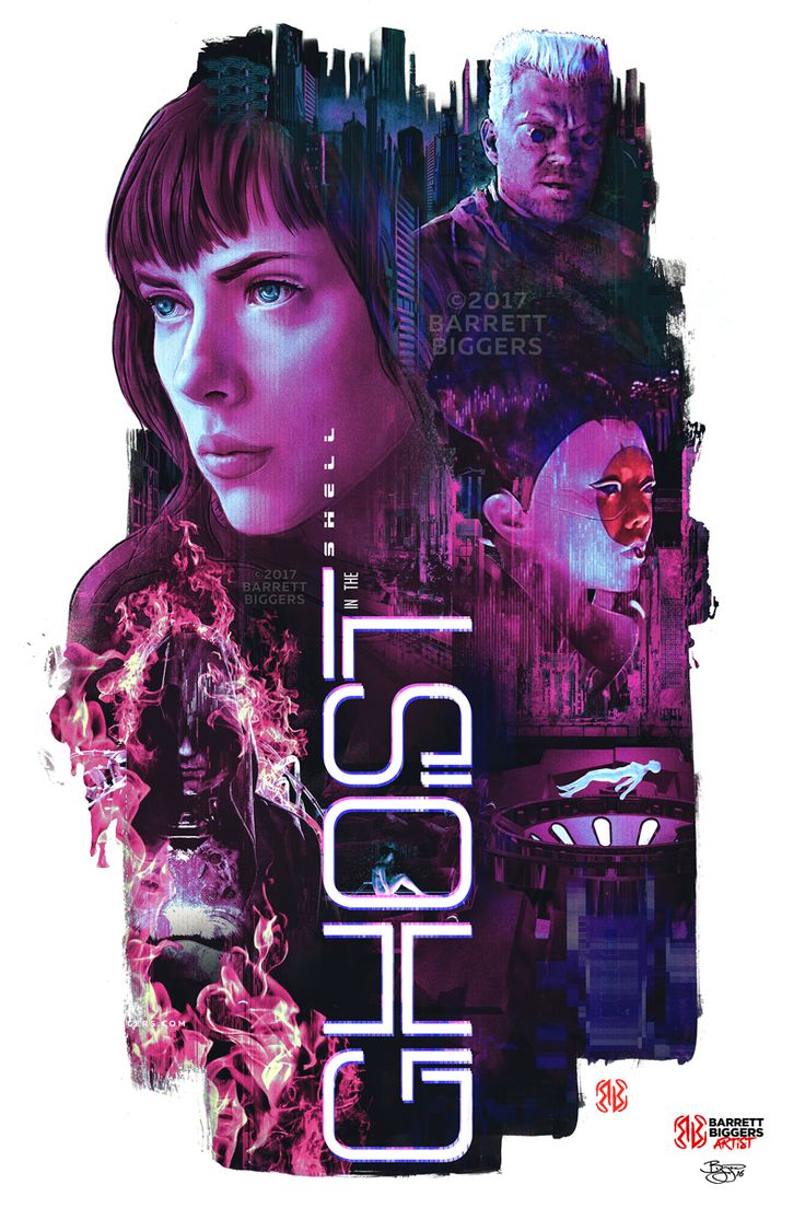 Ghost in the Shell Alternative Poster - Created by Barrett Biggers