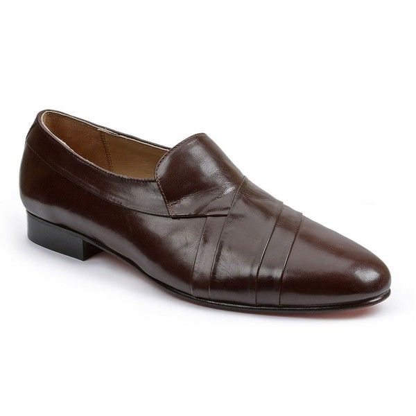 Giorgio Brutini Men's Pleated Leather Dress Shoes ($70) ❤ liked on Polyvore featuring men's fashion, men's shoes, men's dress shoes, brown oth, mens brown dress shoes, mens dress shoes, mens slip on shoes, mens dress loafers shoes and mens brown slip on shoes