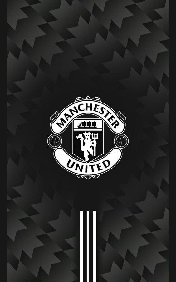 Manchester United 2017/2018 Away Black Android Wallpaper