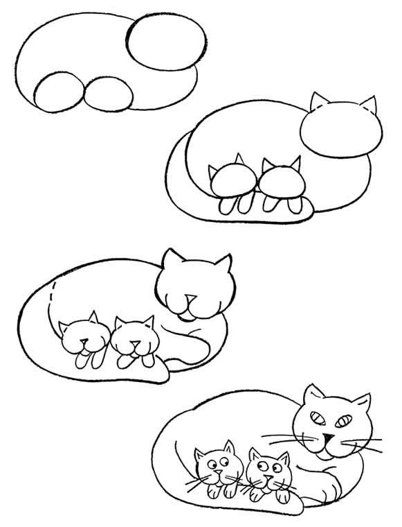 How to draw a cat ...