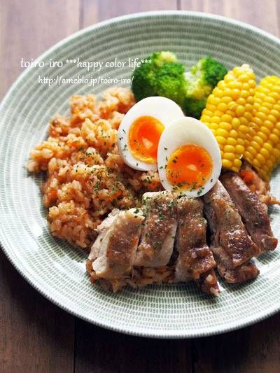 炊飯器de簡単!炊き込みチキンライス : トイロ 公式ブログ