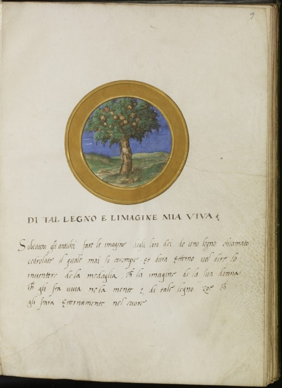 Leaf from Emblem Book, Francesco Petrarca (Italian, 1304-1374)