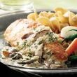 Chicken Breasts with Mushroom Cream Sauce Recipe- good and easy