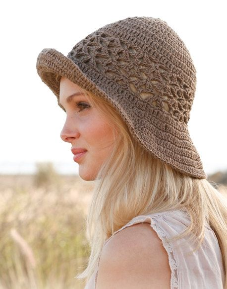 Hemp hat Cotton hat Wide Brimmed hat Summer hat by prettyobject