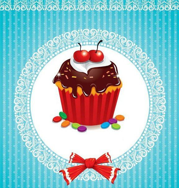 Cupcake fancy. Pastry clipart sahar cakes