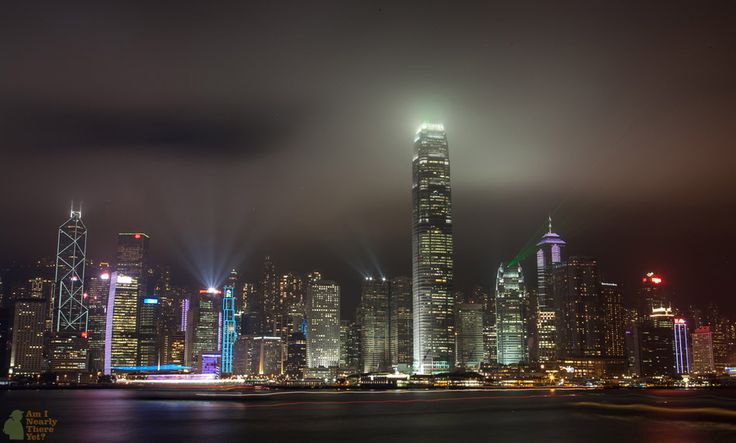 An epic long-exposure shot of the Hong Kong Island Skyline - Shot from Kowloon!  #HongKong #Kowloon #LongExposure #Landscapes