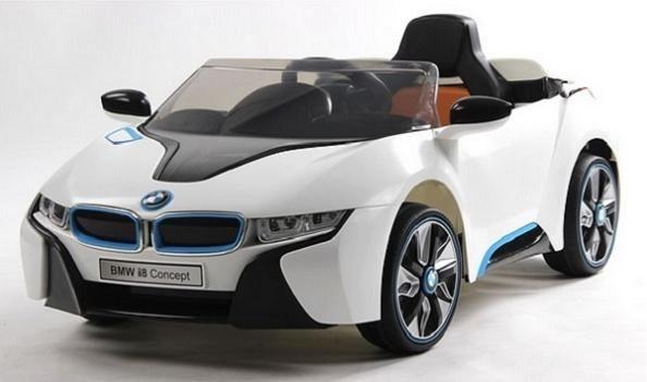 Oferta Coche niños 12V, mando teledirigido BMW I8 blanco, IndalChess.com Tienda de juguetes online y juegos de jardin