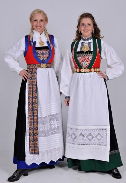 Folk dresses from Fana, Norway