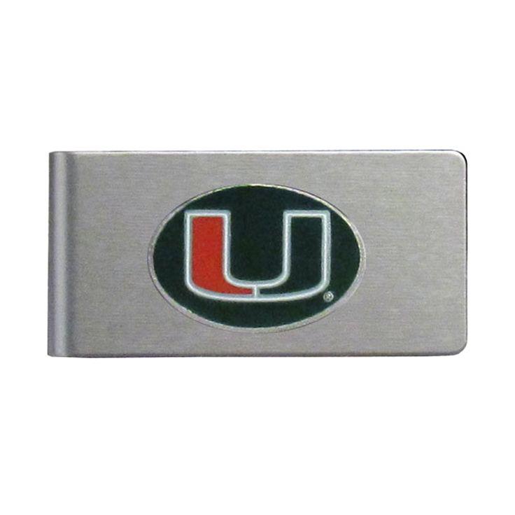 Siskiyou Miami Hurricanes Sports Team Logo Brushed
