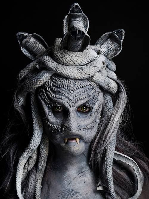#halloween #costume #medusa Complections College of Makeup Art & Design   Prosthetics & Creature Design.