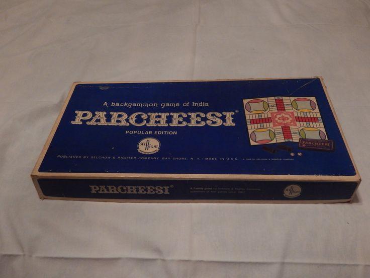 Vintage Parcheesi Board Game 1959 by AlwaysPlanBVintage on Etsy
