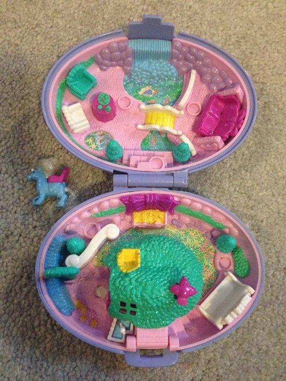 Vintage Polly Pocket Unicorn Meadow Bluebird Toys Purple