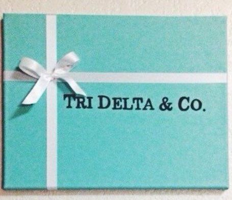 Tiffany and Co. Sorority by SweetSouthernKanvas on Etsy