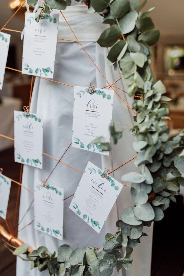 Eucalyptus en koper: zomerhuwelijk aan het meer met gratis huwelijk www.fraeulein-k -…  – Wedding flowers