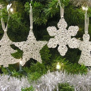 Christmas Ornaments - Glitter Filled Acrylic