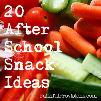 20 After School Snacks // 20 ideas de aperitivos para niños