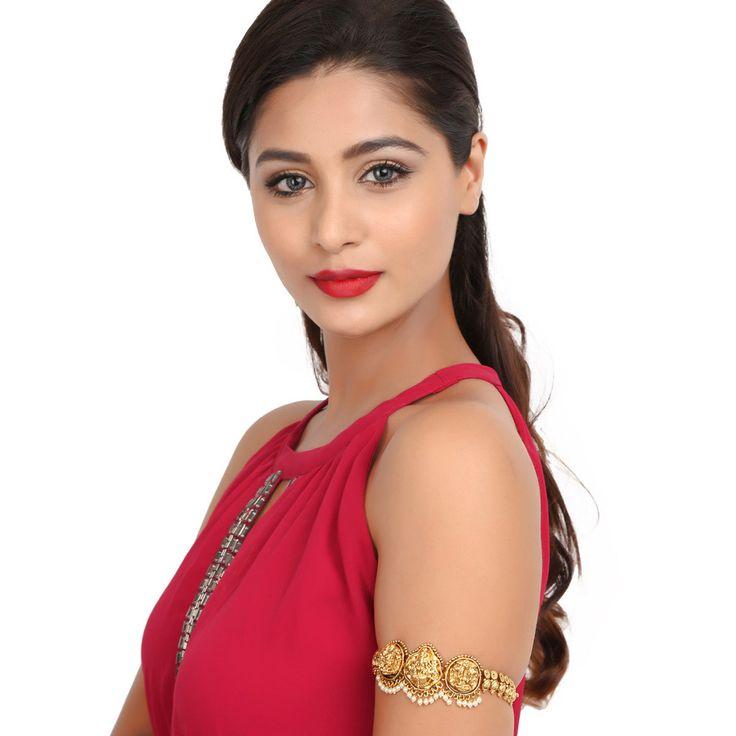 Antique BajuBand 57037 #Kushals #Jewellery #Fashion #Indian #Jewellery #Wedding #Accessories #BajuBand #Antique #Festive