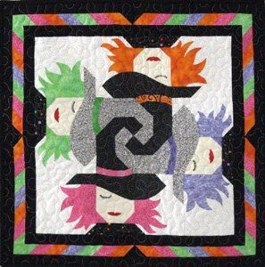 Love this witch quilt! ~Love the way the witch hats work together~m