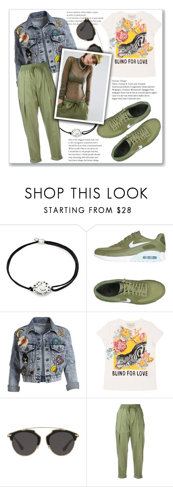 """""""SUNGLASSES"""" by rocio-martinez-1 ❤ liked on Polyvore featuring Alex and Ani, NIKE, Alice + Olivia, Gucci, Christian Dior and Bones"""