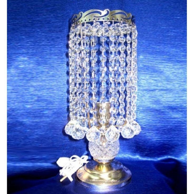 Купить настольную лампу хрустальную Анжелика 2 Шар 30 в интернет-магазине ЛюксСвет +7 (4922) 60-02-05, низкая цена от производителя из Гусь-Хрустального, фото, отзывы