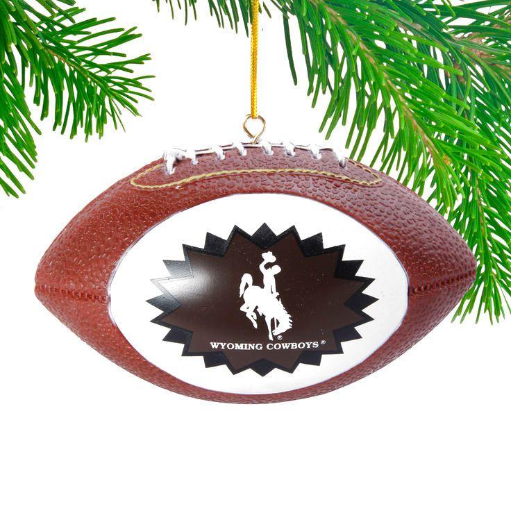 Wyoming Cowboys Replica Football Ornament  - - $6.64