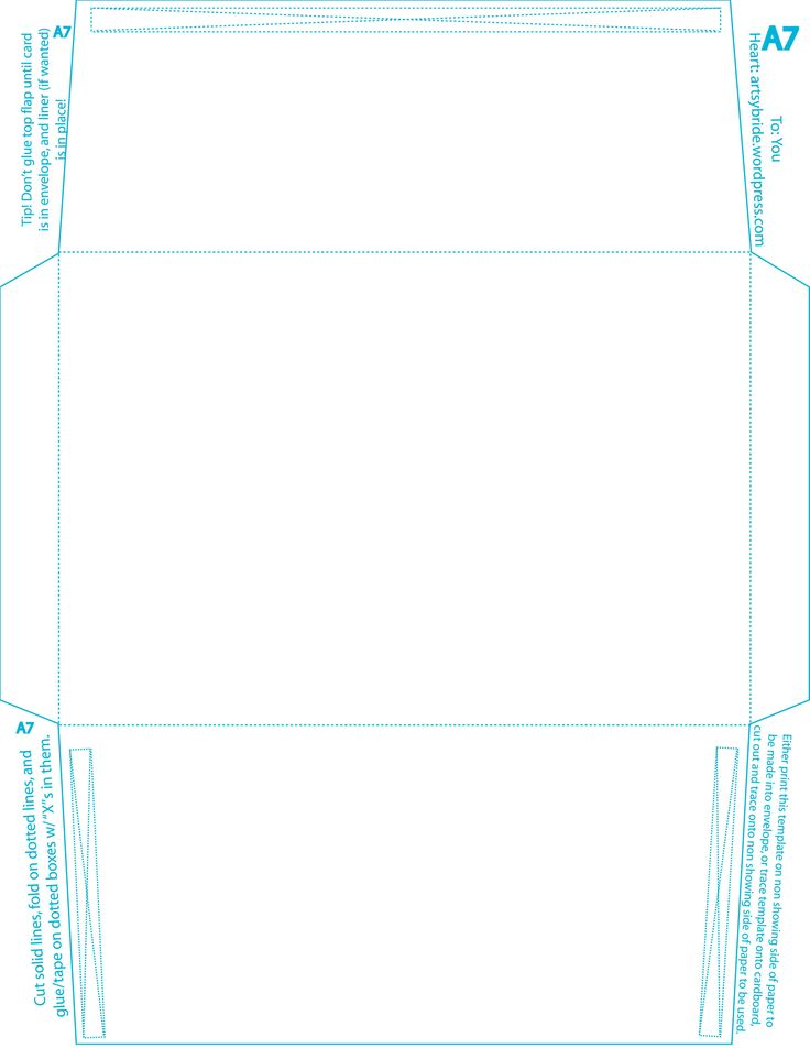 a7 envelope template | Gift wrap & packaging | Pinterest