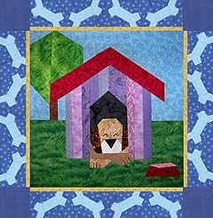 Dogs Pattern Sheet Paper-Pieced Quilt Pattern at Paper Panache