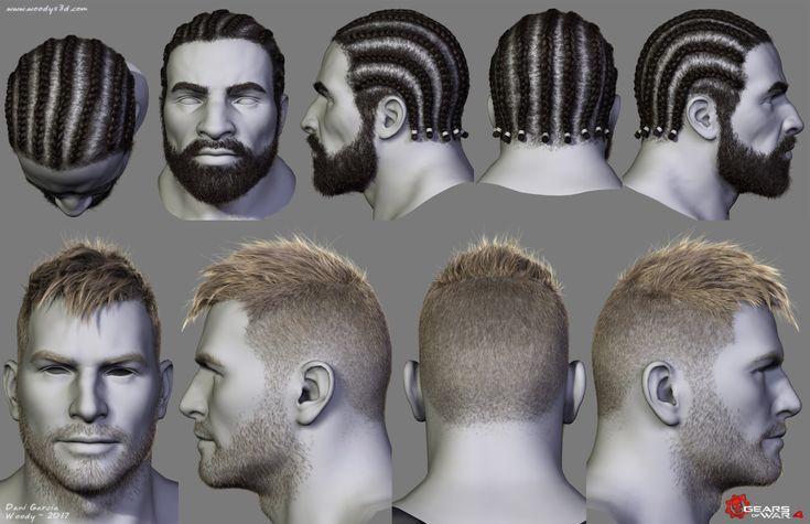 ArtStation - Gears of War Hairstyles 03, Dani Garcia