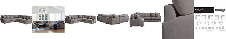 Rhyder 3-Pc. 'L' Shaped Fabric Sectional