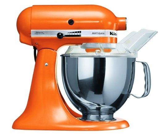 My kitchen is a mixture of shades of orange. I want a matching KitchenAid mixer...although I wouldn't part with my grandma's old school original white one that I inherited. Decisions, decisions!