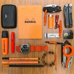 Orange is the New Black  submitted by Onur Hiz  Tru Virtu Card Case  Rhodia Classic Staple Bound Graph Paper Pad - Orange N 13  Cold Steel Mini Tuff lite  Bic Mini Lighter  Streamlight 73006 Buckmasters Key  Leatherman Wave Black Oxide Finish Multi Tool  Leatherman Micra  Fisco Autoslim 2m Tape Measure  Leatherman - Raptor Shears Black-Orange  Stabilo Boss Original Highlighter Orange  Lamy Pico Laser Orange Ballpoint Pen Limited Edition  Stabilo Point 88-46 Black  Stabilo Pen 68 Neon Orange…